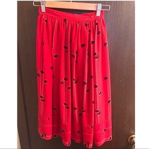 Vintage 1960s Pleated Midi Skirt